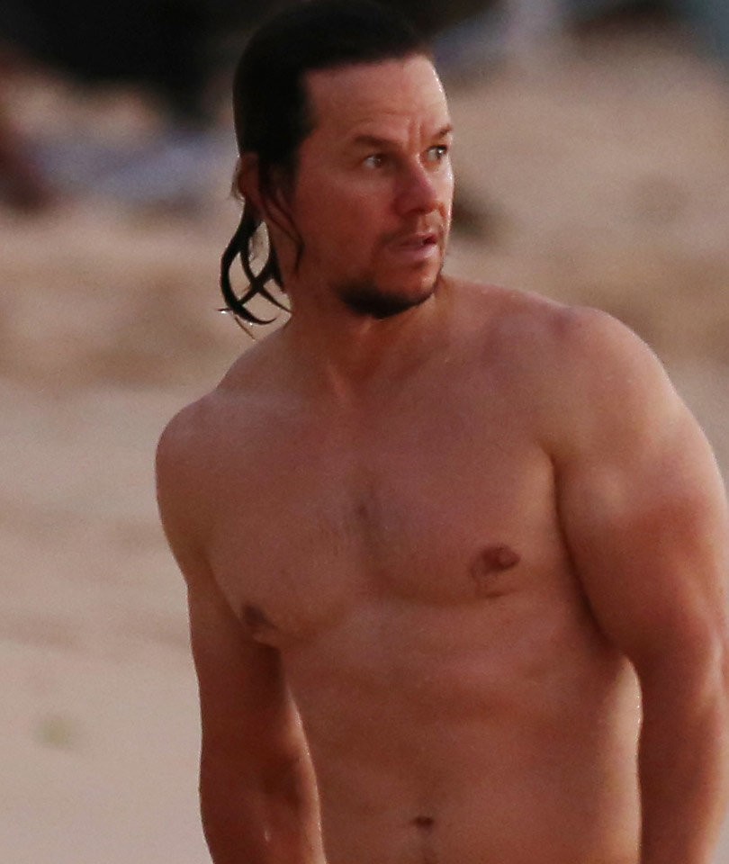 Mark Wahlberg Shows off Flawless Abs in Barbados