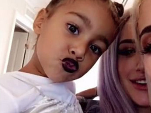 Kylie Jenner Just Gave North West a Goth, Lip Kit Makeover!