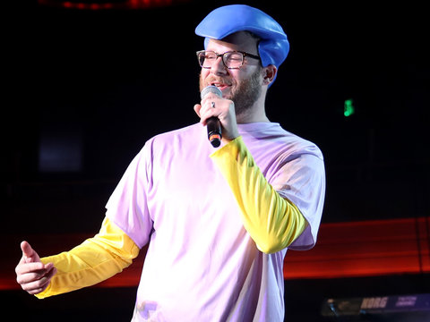 Seth Rogen Dresses as Milhouse, Mario & MJ at Halloween Bash
