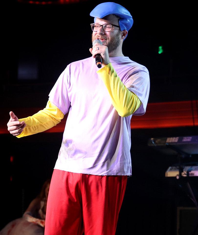 Seth Rogen Dresses as Milhouse, Mario & MJ at Halloween Bash