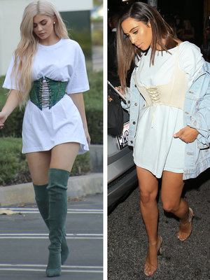 Kylie Copies Kim's Corset Style -- Who Wore It Better?