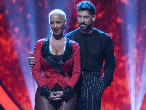 "Amber Rose Gives Emotional Goodbye After ""DWTS"" Elimination"