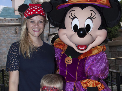 Reese Witherspoon & Son Tennessee Visit Disneyland's Halloween Party