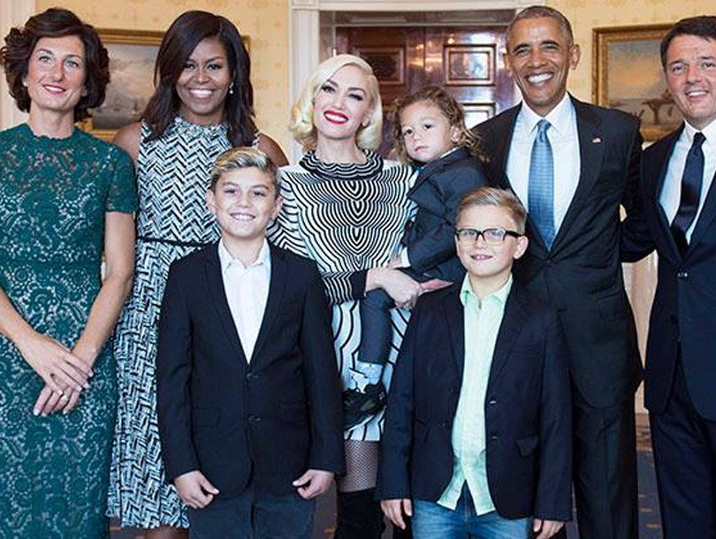 Gwen Stefani & Her Kids Visited White House Before State Dinner