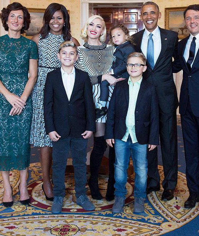 Gwen Stefani & Her Kids Visited White House Before State Dinner