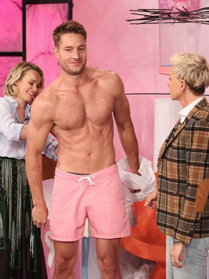 """This Is Us"" Star Gets Shirtless, Soaked by Rachel McAdams on ""Ellen"""