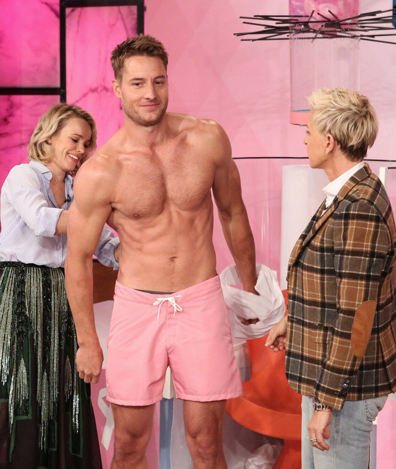 """This Is Us"" Star Gets Shirtless, Soaked by Rachel McAdams…"