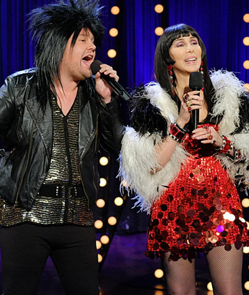"""Cher & James Corden Give """"I Got You Babe"""" a Modern…"""