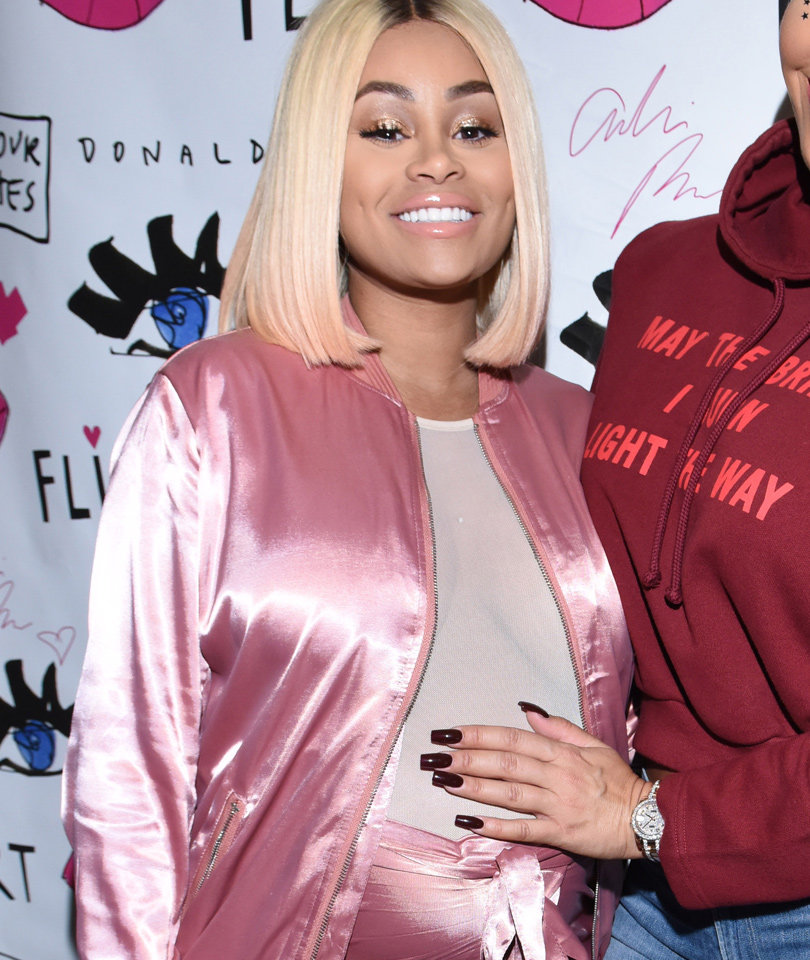 Blac Chyna Supports Amber Rose, Flaunts Bump In See-Through…