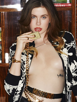 "Ireland Baldwin Goes Topless, Shows Off Long Legs In Coffee Table Book ""My Hotel Room"""