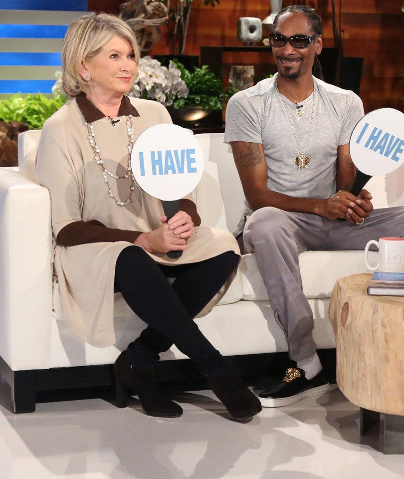 Martha Stewart, Snoop Dogg & Anna Kendrick Play Never Have I Ever with Ellen