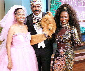 """Coming to America"" Stars Don Costumes for Steve Harvey"