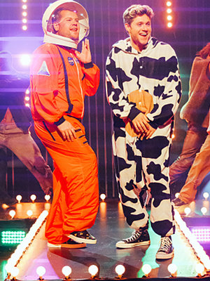 "Watch Corden & Niall Horan's Halloween Parody of Genuwine's ""Pony"""
