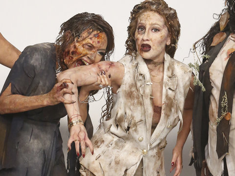"The Ladies of ""The Real"" Transform Into ""The Walking Dead"""