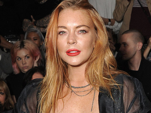 "Lindsay Lohan Strips to Bra & Panties for Bizarre Halloween ""Costume"""