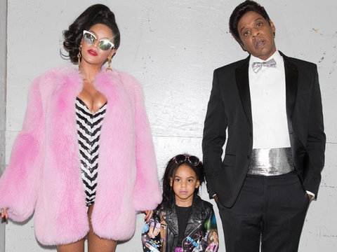 Beyonce, Jay Z & Blue Ivy Rock Perfect Barbie Costumes