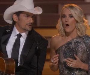 Carrie Underwood & Brad Paisley Open CMA Awards Mocking Trump & Hillary