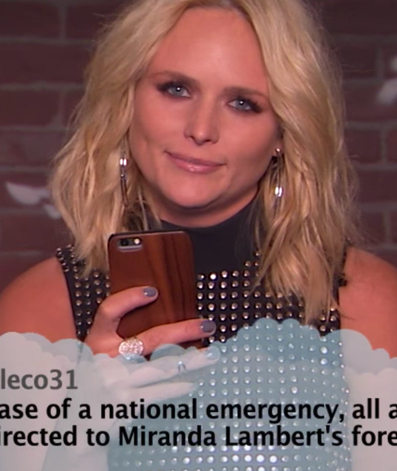"""CMA Stars Get Bashed with """"Mean Tweets"""" on Jimmy Kimmel"""