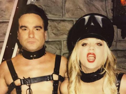 Kaley Cuoco & Johnny Galecki Share Sexy, S&M Selfie