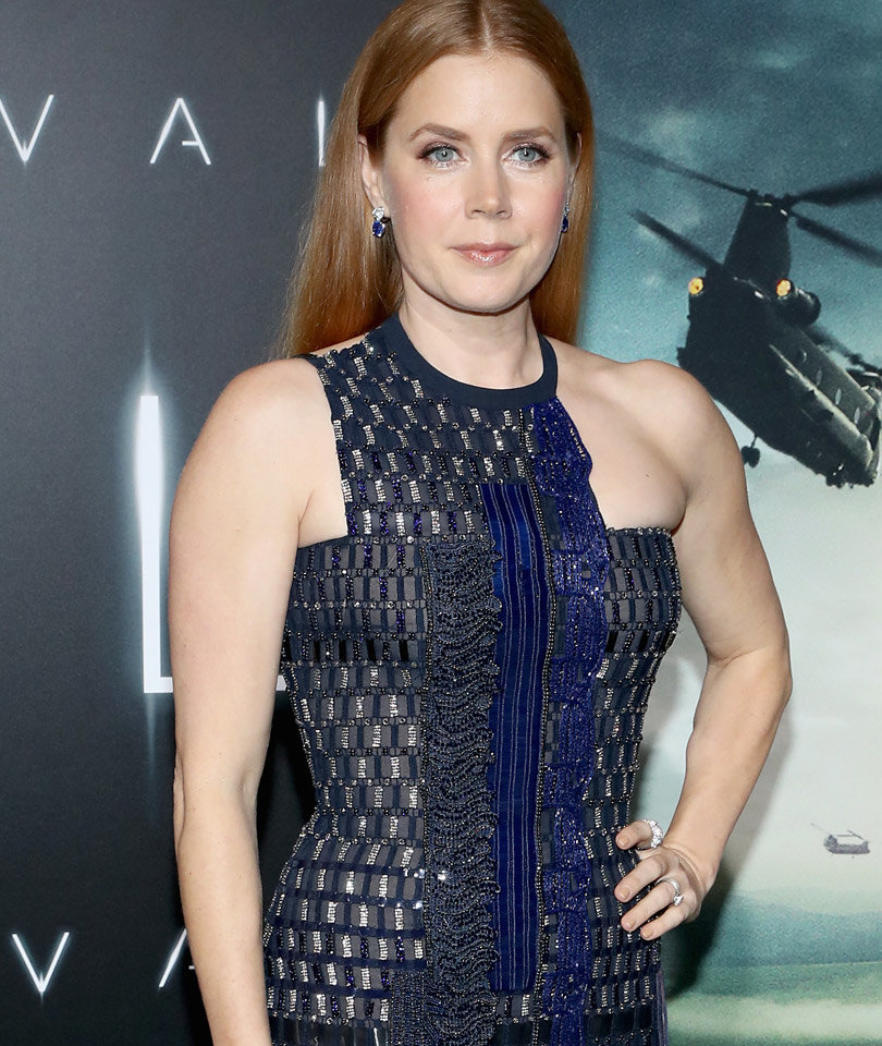 "Amy Adams Rocks Metallic Versace Dress to L.A. ""Arrival"" Premiere"