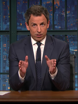 Seth Meyers Gets Emotional -- See How Late Night Hosts Tackled Trump's Victory
