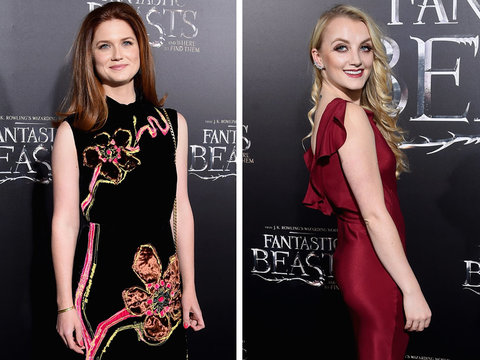 """""""Harry Potter"""" Stars Support J.K. Rowling at """"Fantastic Beasts"""" Premiere"""