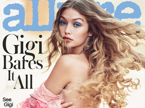 Gigi Hadid Goes Topless In Allure, Spills on BF Zayn Malik's Hotness
