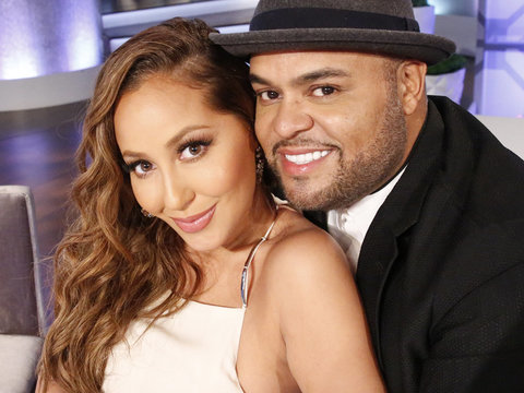 See How Adrienne Bailon Surprised Husband on Their Wedding Night