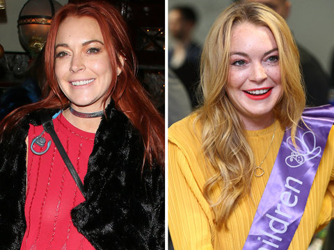 Lindsay Lohan -- Red or Not?