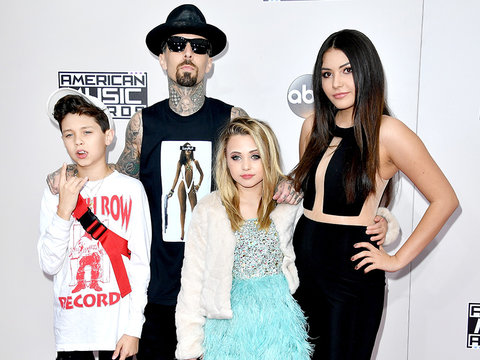Travis Barker's Rocker Kids Steal the Spotlight at American Music Awards