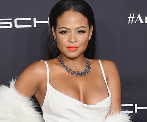 Christina Milian Pairs Winter White with Tons of Cleavage