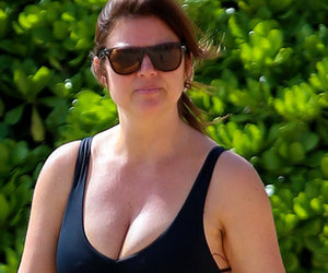 Tiffani Thiessen Flaunts Swimsuit Bod In Sexy, Lace-Up One-Piece