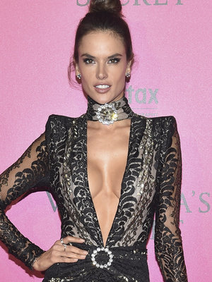 Alessandra Ambrosio Takes the Plunge In Sexy Sheer Number