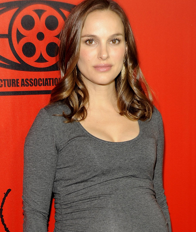 Natalie Portman Flaunts Baby Bump in Skin Tight Mini