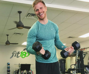 """The Bachelor's"" Sean Lowe Hits the Gym with 5-Month-Old Son Samuel"