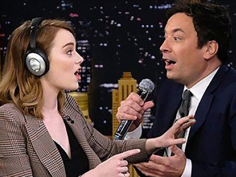 Jimmy Fallon and Emma Stone Pull Off Funniest 'Whisper Challenge' Ever! (Video)