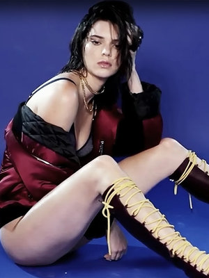 Kendall Jenner Gets Wet & Wild In Lingerie for Love Magazine
