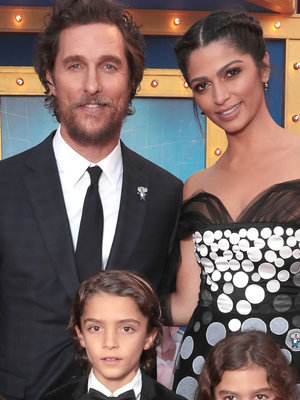 Matthew McConaughey's Three Kids Sport Matching Suits on Red Carpet