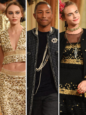 Delevingne, Pharrell, & Depp Strut at Chanel Show In Paris