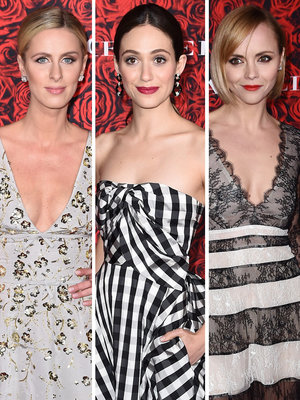 Hilton, Rossum, & Ricci Stun While Supporting Carolina Herrera