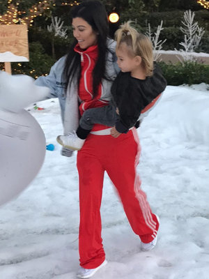 Kourtney Kardashian & Scott Disick Enjoy a Snow Day with the Kids