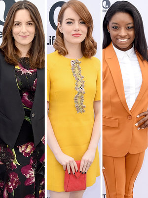 Fey, Biles & Stone Step Out at THR's Women In Entertainment Breakfast