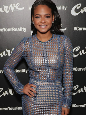 Christina Milian Flashes Her Pasties In See-Through Dress