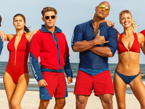 "Zac Efron, The Rock & Slo-Mo Running All Featured In First Trailer for ""Baywatch""…"