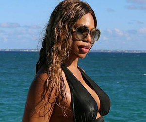 Laverne Cox Rocks Sexy Cutout Swimsuit During Beach Getaway