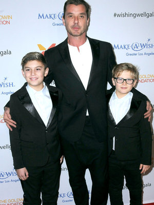 Gavin Rossdale Attends Wishing Well Winter Gala with Sons Zuma & Kingston