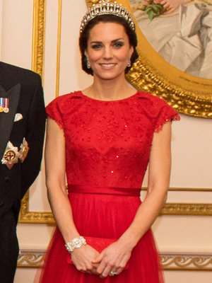 Kate Middleton Recycles Princess Diana's Tiara & Gorgeous Red Dress
