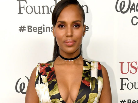 Kerry Washington Stuns at First Post-Baby Event with Husband Nnamdi Asomugha