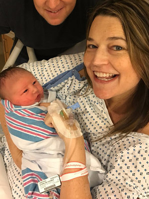 """TODAY"" Anchor Savannah Guthrie Gives Birth to Son Charley (First Photos)"