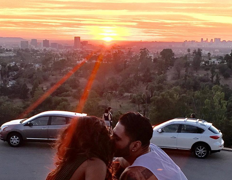 Malika Haqq and Ronnie Ortiz-Magro kissing on sunset